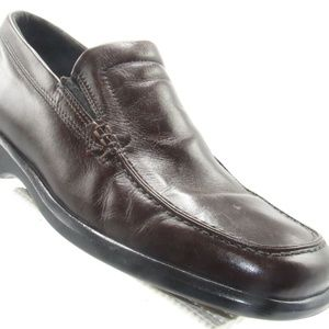 Ecco 050168 Size 10 M Brown Leather Loafer B6 A17